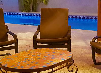 Villa sawana - terrasse avec vue panoramique sur piscine