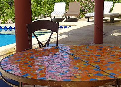 Villa sawana - terrasse meublée avec piscine privée